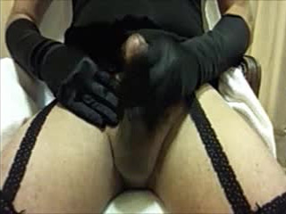Angela Crossdresser Cum In Black Lingerie