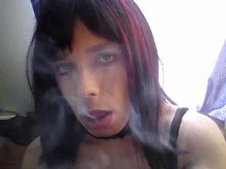 Carolina Smoking Stroking Facial