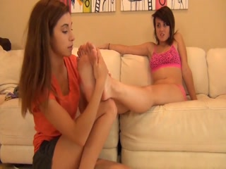 Hot Teen Worshiping Her Girlfriend's Dirty And Stinky Socks And Feet