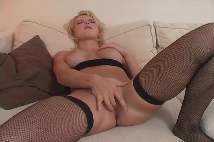 Blonde gets a cock treat part1