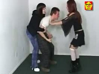 Two Ladies Repeated Cruel Ballbusting