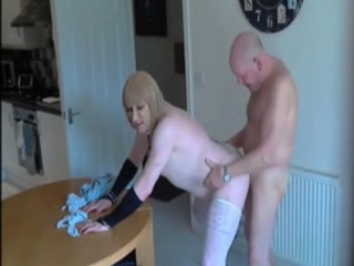 Older Crossdresser Bitch Swallows Hot Semen