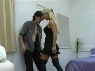 2 knees by blonde hot girl