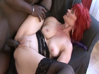 Fat Black Cock Fucks A Nasty Mature