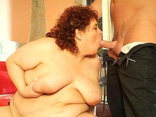 Redhead Fatty Mouthing Mon Prick