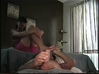 Masturbating While Sniffing My Wife's Hot Feet