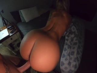 Filthy Blonde Getting Huge Vaginal Creampie By Her Friend