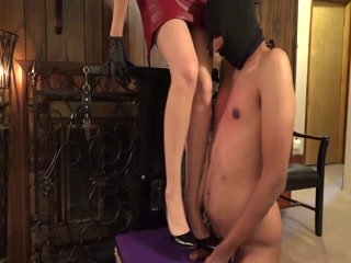 CBT With Black Heels On CBT Chair