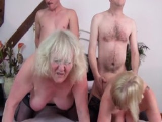 British Matures Enjoy Hardcore Groupsex