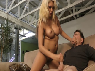 Mature Blonde Giving A Wild Handjob To Her Lover