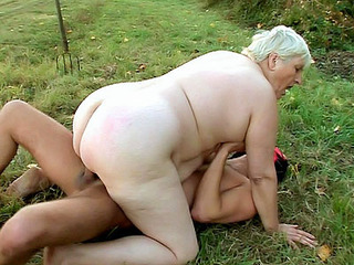 Fat Mature Rides A Cock