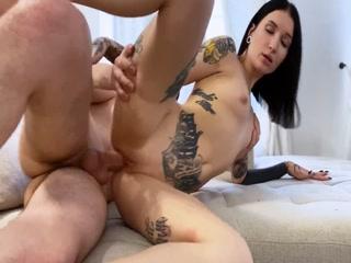 Tattooed Babe Takes All Warm Semen Inside Pussy