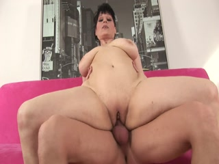 Chubby Lady With Big Tits Gets Her Mature Pussy Rammed Hard