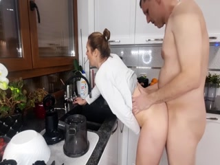 Hot Wife Gets Fucked In The Kitchen