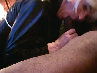 IN PVC Sucking BBC