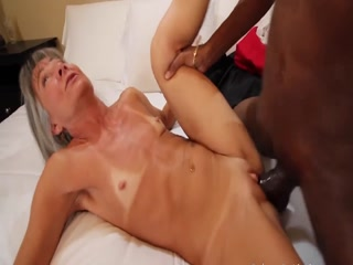 Granny With Small Tits And Shaved Pussy Loves BBC