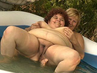 Fat Mature Lesbians Fondling