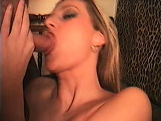 Naughty blonde sucks a cock and gets her pussy fingered