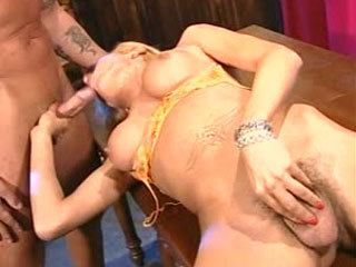 Sexy Blonde Latin Tranny Gets It Up The Ass