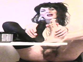 Mature Tranny Rubbing Her Feet
