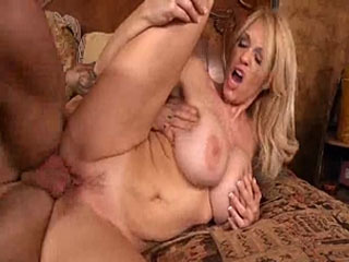 Blond and busty MILF Charlee Chase gets fucked