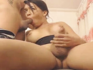 Hot Tranny Gives Her Boyfriend A Blowjob