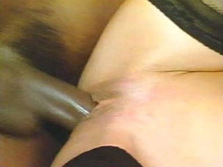Black Cock Fucks A Horny German Cunt
