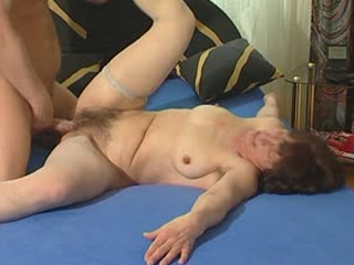 German granny takes a hard cock