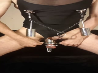 Kinky Peehole Fucking Masoslut Stretching Balls And Nipples