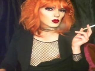 Redhead Smoking Bimbo Miss-Fg