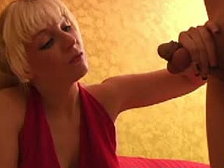 blonde slap squeeze and kick slave