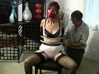 Hot Mature Office Bondage