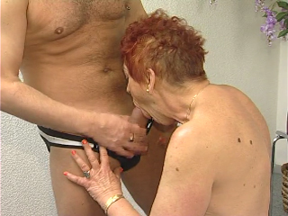 Redhead granny drilled hard and titty jizzed