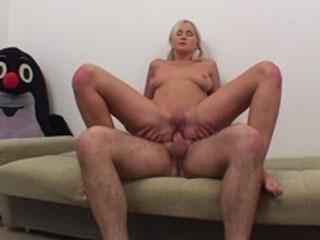 Hottie rides a hard cock