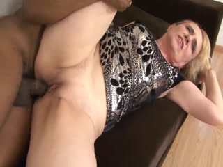 Blonde Granny Eager To Try Big Black Cock