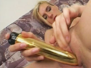 Blonde amateur masturbates and sucks a dick
