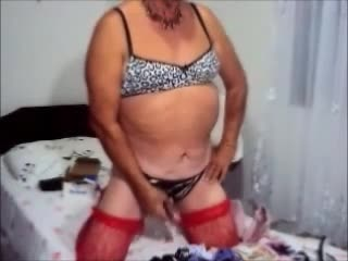Crossdresser Rosa Mello Maostrando Seus Sutia Novo E Calcinha