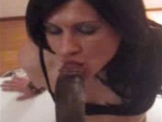TS Linda SucksFucks Negro Miembro