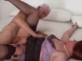 Old Man Banging Sexy Crossdresser