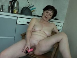 Granny Is Masturbating In Kitchen