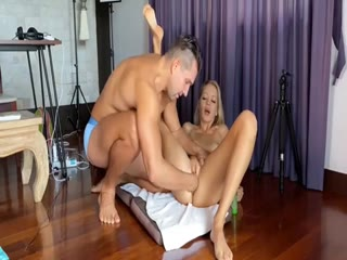 Stunning Blonde MILF Has Her Husband Fisting Her Squirting Pussy