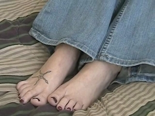 Kimberly Teasing With Her Feet