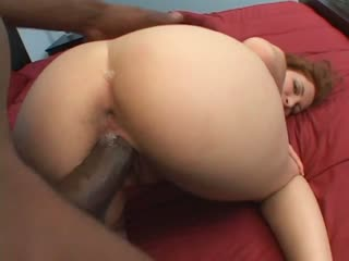 Sexy redhead enjoying the big dick