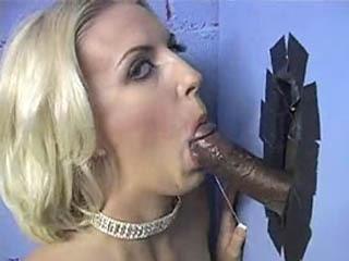 Sexy Tiffany sucking a black cock