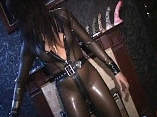 Servant Gets Punished By His Seductive Tranny Mistress