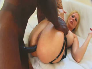 A horny blonde wants a big black dong
