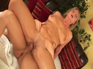 Blonde Granny Meets Hard Cock And She Loves It!
