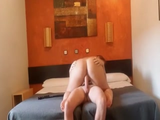 White Cock Fucks Horny  BBW Latina In The Hotel Room