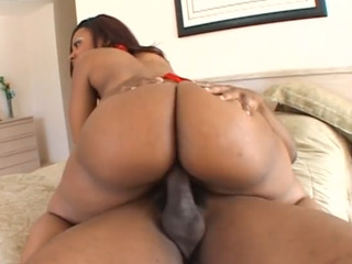 Cherokee's big butt bouncing on a big dick