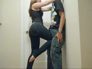 Teen Knee Holds & Grinding in Tight Jeans - Katkatbbsaverz (PLEASE COMMENT!!)